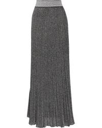 Jupe longue plissée argentée Missoni