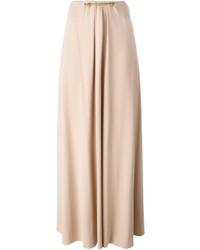 Jupe longue plissée beige Lanvin