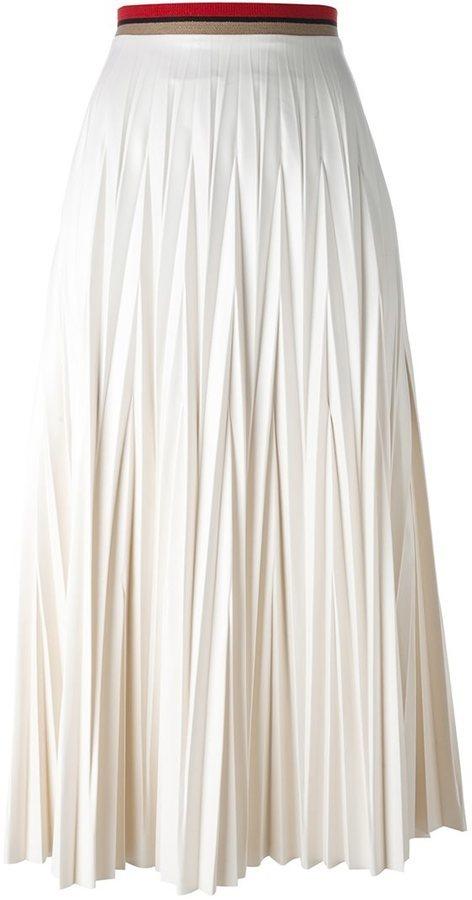 c84ecac8d8bf ... Jupe longue plissée blanche Aviu