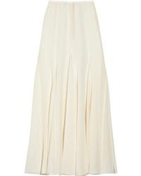Jupe longue plissée blanche Michael Kors