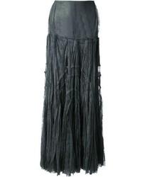 Jupe longue plissée gris foncé Anne Valerie Hash