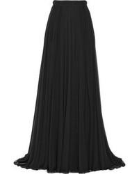 Jupe longue plissée noire Elie Saab
