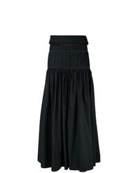 Jupe longue plissée noire Ellery