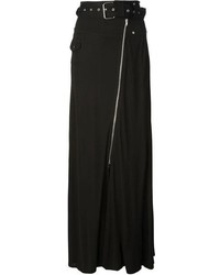 Jupe longue plissée noire Jean Paul Gaultier
