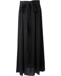 Jupe longue plissée noire Lanvin