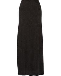 Jupe longue plissée noire Missoni
