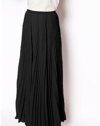 bas prix 63efb 8efae Jupe longue plissée noire Asos, €66 | Asos | Lookastic France