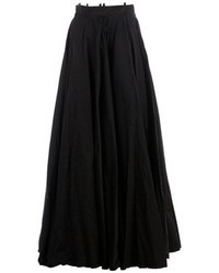 Jupe longue plissée noire Yang Li
