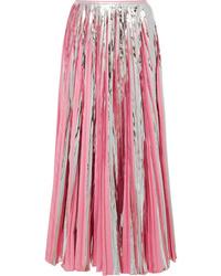 Jupe longue plissée rose Marni