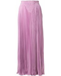 Jupe longue plissée rose Valentino