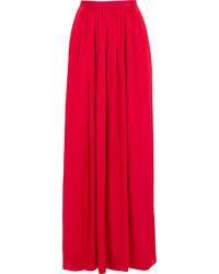 Jupe longue plissée rouge Needle & Thread