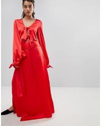 Jupe longue rouge Style Mafia