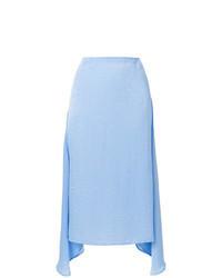 Jupe mi-longue bleu clair