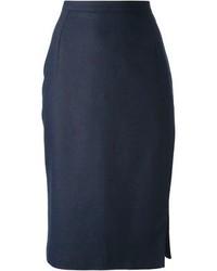 Jupe mi longue bleue marine original 1470057