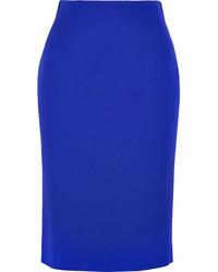 Jupe mi-longue bleue Alexander McQueen