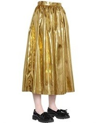 Jupe mi-longue dorée