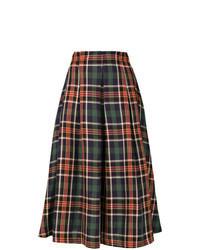 Jupe mi-longue écossaise multicolore
