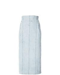 Jupe mi-longue en denim bleu clair