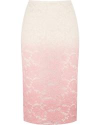 Jupe mi-longue en dentelle rose Burberry