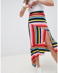 Jupe mi-longue imprimée multicolore ASOS DESIGN