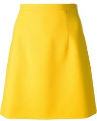 Jupe mi-longue jaune Christopher Kane