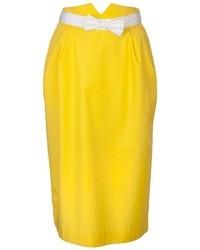 Jupe mi-longue jaune Courreges