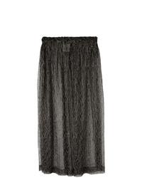 Jupe mi-longue noire Comme Des Garçons Vintage