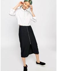 Jupe mi-longue noire Monki