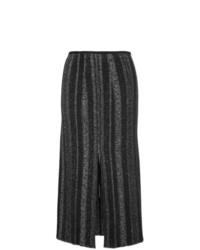 Jupe mi-longue ornée noire Proenza Schouler