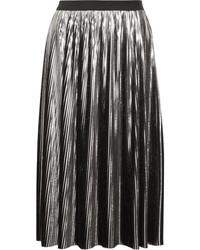 Jupe mi-longue plissée argentée Jil Sander