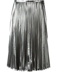 Jupe mi-longue plissée argentée MICHAEL Michael Kors