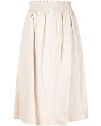 Jupe mi-longue plissée beige By Malene Birger