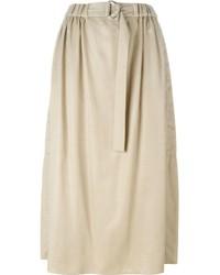 Jupe mi-longue plissée beige Kenzo