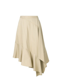 Jupe mi-longue plissée beige Palmer Harding
