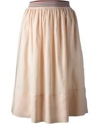 Jupe mi-longue plissée beige Stella McCartney