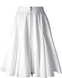Jupe mi-longue plissée blanche Givenchy