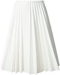 Jupe mi-longue plissée blanche J.W.Anderson