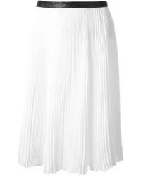 Jupe mi-longue plissée blanche Jason Wu