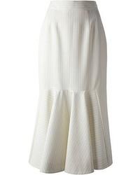 Jupe mi-longue plissée blanche Stella McCartney