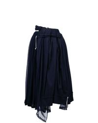 Jupe mi-longue plissée bleu marine Comme Des Garçons Vintage