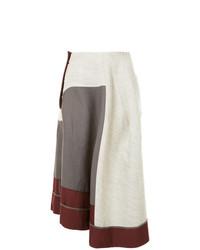Jupe mi-longue plissée grise Comme Des Garçons Vintage