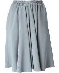 Jupe mi-longue plissée grise Giorgio Armani
