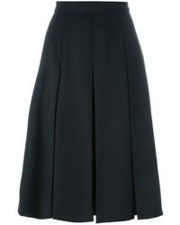 Jupe mi-longue plissée noire Alexander McQueen