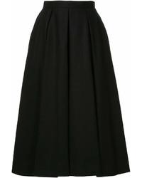 Jupe mi-longue plissée noire Enfold