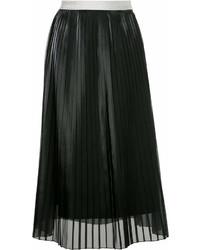 Jupe mi-longue plissée noire GUILD PRIME