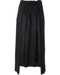 Jupe mi-longue plissée noire