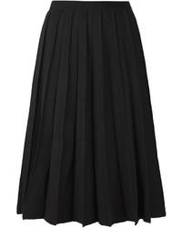 Jupe mi-longue plissée noire Marc Jacobs