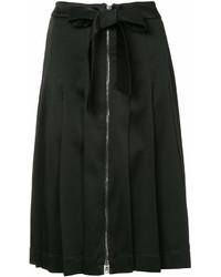 Jupe mi-longue plissée noire Moschino
