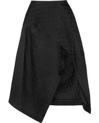 Jupe mi-longue plissée noire Stella McCartney