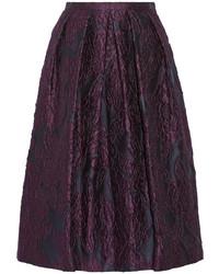 Jupe mi-longue plissée pourpre Burberry
